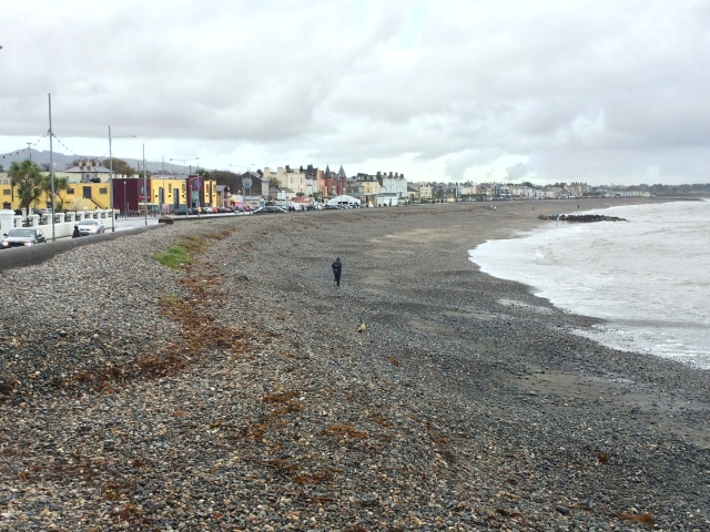 The view of Bray front from the start of the clifftop walk