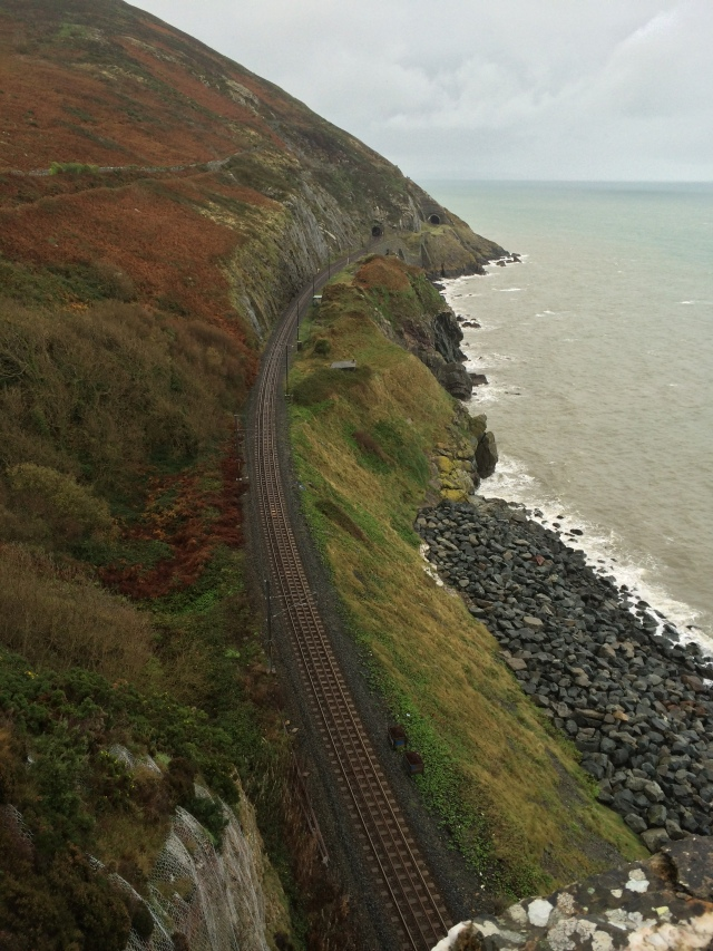 Looking back towards Bray along the DART track