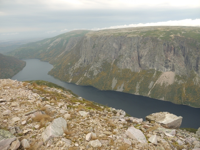 Sheer cliffs, rocky mountain tops, and steely waters - Newfoundland scenery at it's best