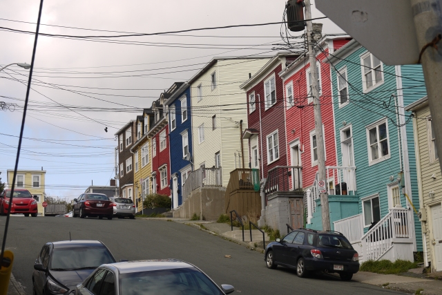 The distinctive, brightly coloured houses found through St. John's