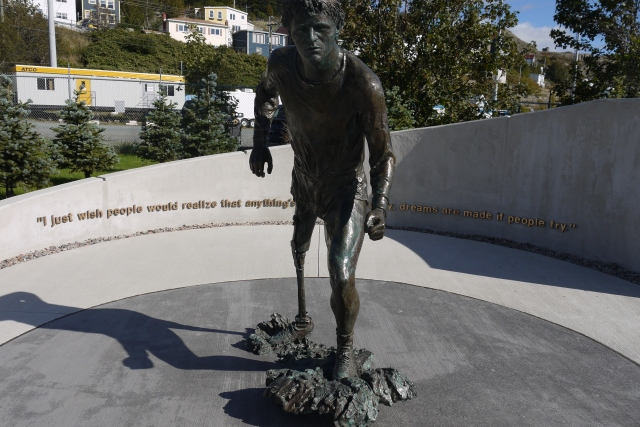 The Mile 0 Terry Fox Memorial - from here Terry Fox planned to run across Canada, sadly he never made it past Ontario