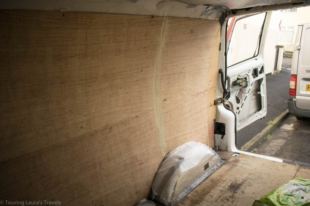 Lining-our-VW-T4-Transporter-van-with-plywood